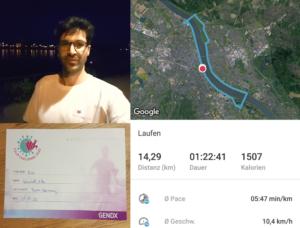 14 km run