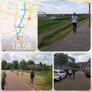 18.5 km walk